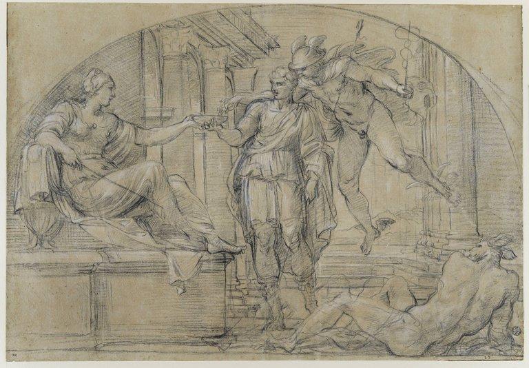Ulysse et Mercure devant Circé