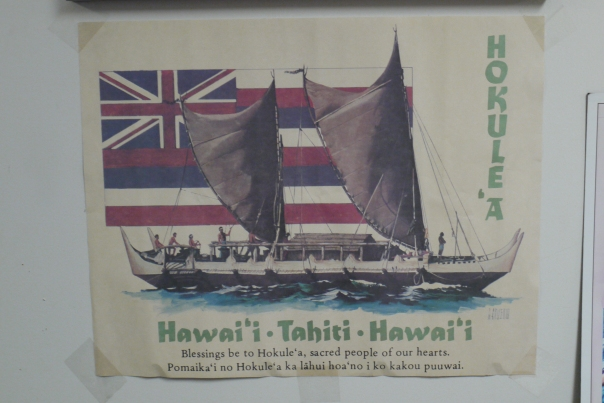 Old_poster_commemorating_Hōkūle'a's_first_voyage_to_Tahiti